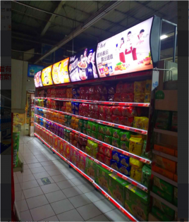 超市货架发光望板制作
